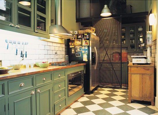 cocinas rusticas color verde