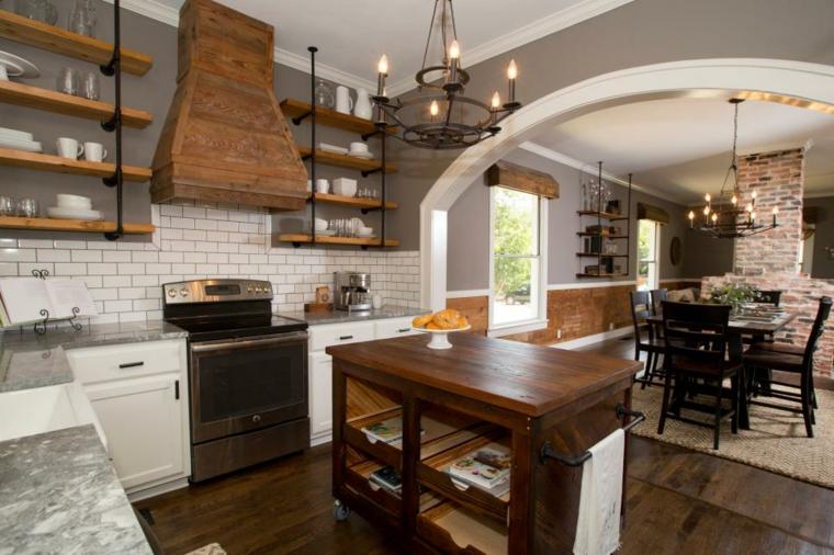 cocina tustica con espacios abiertos