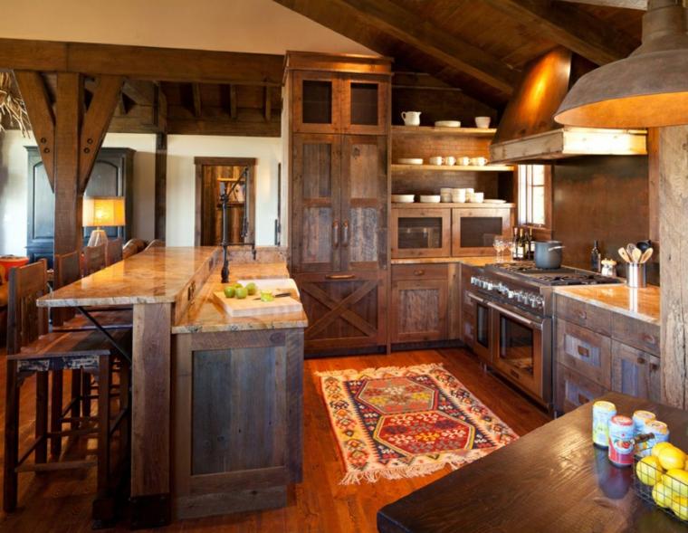 diseño de cocinas rusticas de campo